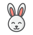 easter rabbit filled outline icon easter vector image