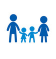 family flat icon sign family logo vector image vector image