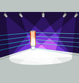 flat boxing club ring with spotlight light vector image