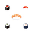 flat icon maki set of seafood maki gourmet and vector image vector image