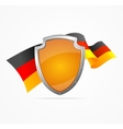Germany Flag and Shield vector image vector image