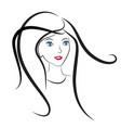 girl hair salon icon vector image vector image