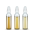 Glass Medical Ampoules Bottles Isolated vector image vector image