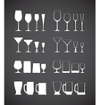 Glass silhouettes vector image vector image