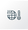 global warming icon line symbol premium quality vector image