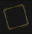 gold luxury frame vector image vector image