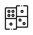 interactive kids game dominoes sign icon vector image vector image