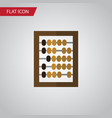 isolated abacus flat icon counter element vector image vector image