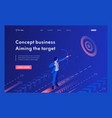 isometric businessman aiming at target vector image vector image