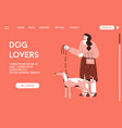 landing page dog lovers concept vector image vector image