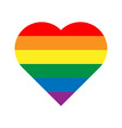 lgbt rainbow pride flag in a shape of heart vector image vector image
