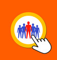 male figures icon team leadership concept hand vector image vector image