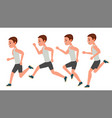 male running animation frames set sport vector image vector image