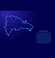 map dominican republic from the contours network vector image
