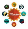 Mexican culture design vector image vector image