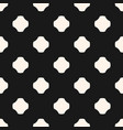 monochrome seamless pattern rounded ceosses vector image vector image