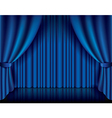object curtain blue vector image vector image