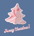 patterned colored christmas tree made as sticker vector image vector image
