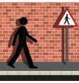 pedestrian vector image