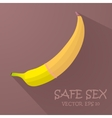 Safe sex with a condom vector image vector image