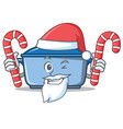 santa with candy kitchen character cartoon style vector image vector image