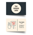 Set icons on a theme of economic crisis vector image vector image