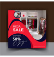 social media post shopping template collection vector image vector image