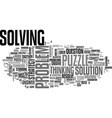 solving word cloud concept vector image vector image