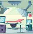 surgery room emergency clinic hospital interior vector image