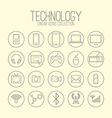 Technology Linear Icons vector image