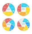templates for circle diagram options web design vector image vector image