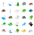 terra icons set isometric style vector image vector image
