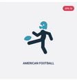 two color american football player kicking the vector image vector image