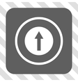 Up Rounded Arrow Rounded Square Button vector image
