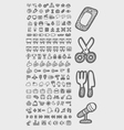 Useful icons sketch vector image vector image