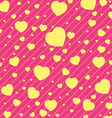 Valentine Day and yellow Heart on Pink background vector image