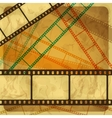 Vintage scratch background with film frame Eps 10 vector image vector image