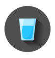 water glass icon in flat style soda glass with vector image vector image