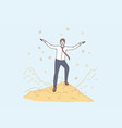 wealth good salary success concept vector image