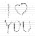 with I Love You lettering vector image vector image