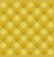 yellow argyle seamless pattern vector image vector image
