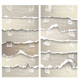 set of torn paper with adhesive tape vector image