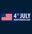 american independence day 4th july template vector image