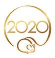 2020 year rat symbol vector image vector image