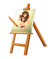 A painting of a woman vector image vector image