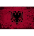 Albanian flag Grunge background vector image vector image