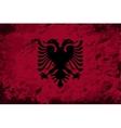 Albanian flag Grunge background vector image vector image