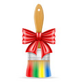 art creative paint brush concept with a bow vector image vector image