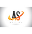 as a s letter logo with fire flames design and vector image vector image