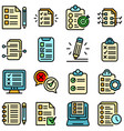 assignment icons set flat